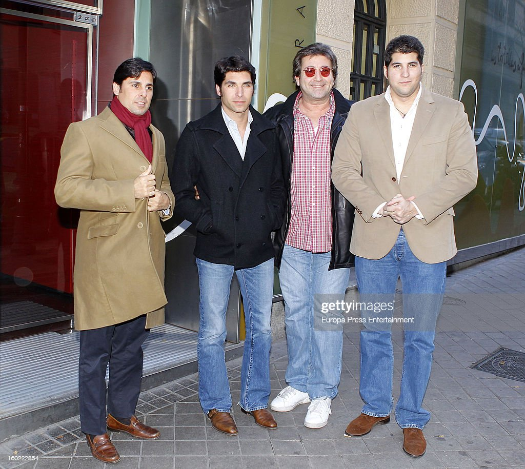Julian Contreras jr celebrates his 26th birthday with his brothers Francisco Rivera and Cayetano Rivera and his father Julian Contreras on January 14...