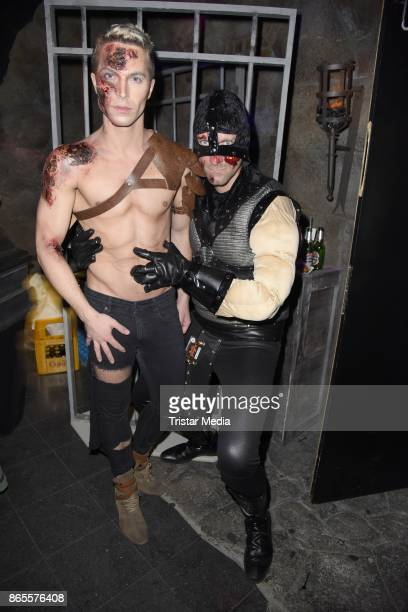 Julian David and Daniel Termann during the Halloween party by Natascha Ochsenknecht at Berlin Dungeon on October 23 2017 in Berlin Germany