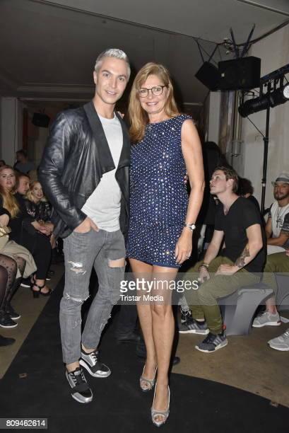 Julian David and Maren Gilzer attend the Matthias Maus Fashion Show Autumn/Winter 2017 at Kaufhaus Jandorf on July 5 2017 in Berlin Germany