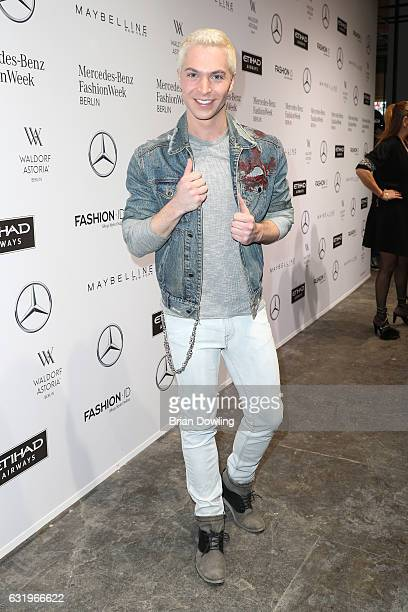Julian David attends the Rebekka Ruetz show during the MercedesBenz Fashion Week Berlin A/W 2017 at Kaufhaus Jandorf on January 18 2017 in Berlin...
