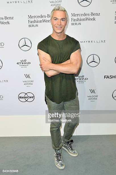Julian David attends the Riani show during the MercedesBenz Fashion Week Berlin Spring/Summer 2017 at Erika Hess Eisstadion on June 28 2016 in Berlin...