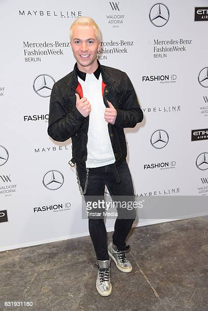 Julian David attends the Riani show during the MercedesBenz Fashion Week Berlin A/W 2017 at Kaufhaus Jandorf on January 17 2017 in Berlin Germany