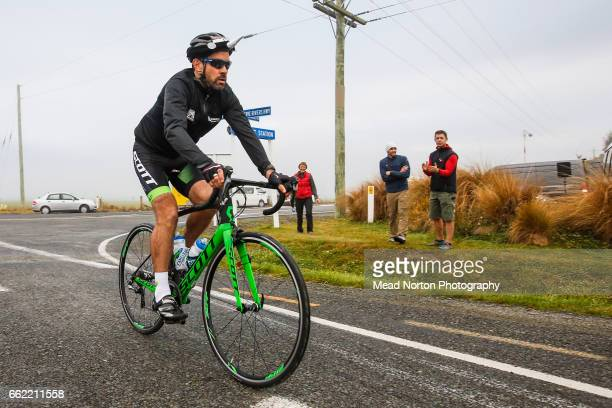 Julian Dean was adopted by team Unicorn raising funds for Endocrine Cancer Center for the first stage of the Tour of New Zealand on April 1 2017 in...