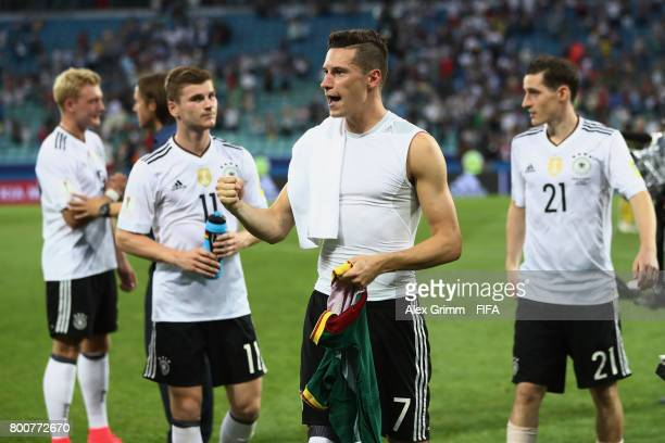 Julian Draxler of Germany celebrates after the FIFA Confederations Cup Russia 2017 Group B match between Germany and Cameroon at Fisht Olympic...