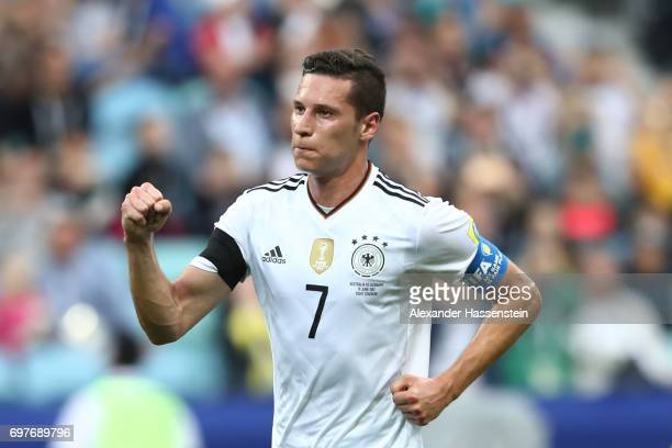 Julian Draxler of Germany celebrates scoring his sides second goal during the FIFA Confederations Cup Russia 2017 Group B match between Australia and...