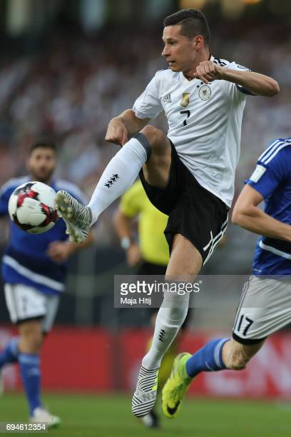Julian Draxler of Germany controls the ball during the FIFA 2018 World Cup Qualifier between Germany and San Marino on June 10 2017 in Nuremberg...