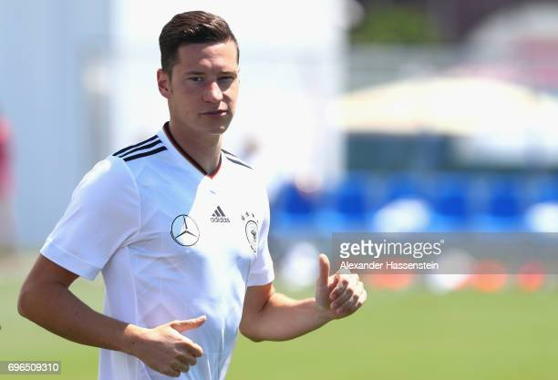 Julian Draxler of Germany during a training session at Park Arena training ground on June 16 2017 in Sochi Russia
