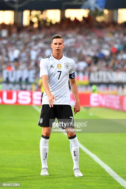 Julian Draxler of Germany gestures during the FIFA 2018 World Cup Qualifier between Germany and San Marino at Stadion Nurnberg on June 10 2017 in...