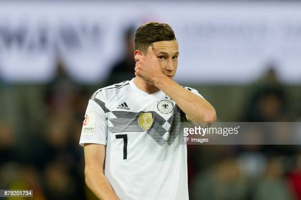 Julian Draxler of Germany gestures during the International friendly match between Germany and France at RheinEnergieStadion on November 14 2017 in...