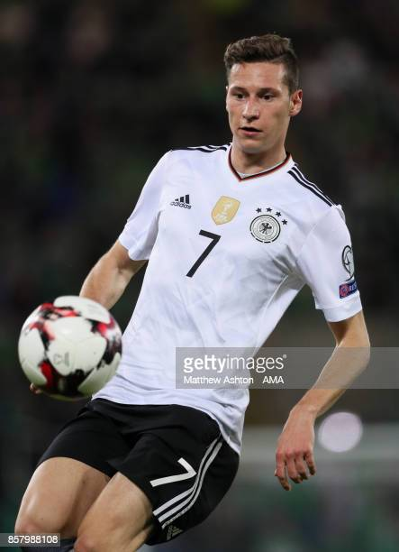 Julian Draxler of Germany in action during the FIFA 2018 World Cup Qualifier between Northern Ireland and Germany at Windsor Park on October 5 2017...