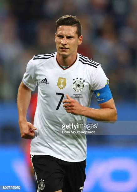 Julian Draxler of Germany in action during the FIFA Confederations Cup Russia 2017 Final between Chile and Germany at Saint Petersburg Stadium on...
