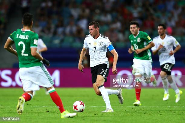 Julian Draxler of Germany in action during the FIFA Confederations Cup Russia 2017 SemiFinal between Germany and Mexico at Fisht Olympic Stadium on...