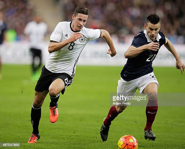 Julian Draxler of Germany in action during the International Friendly match between France and Germany at the Stade de France on November 13 2015 in...