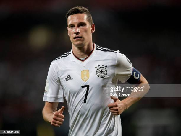 Julian Draxler of Germany looks on during the FIFA 2018 World Cup Qualifier between Germany and San Marino at Stadion Nuernberg on June 10 2017 in...