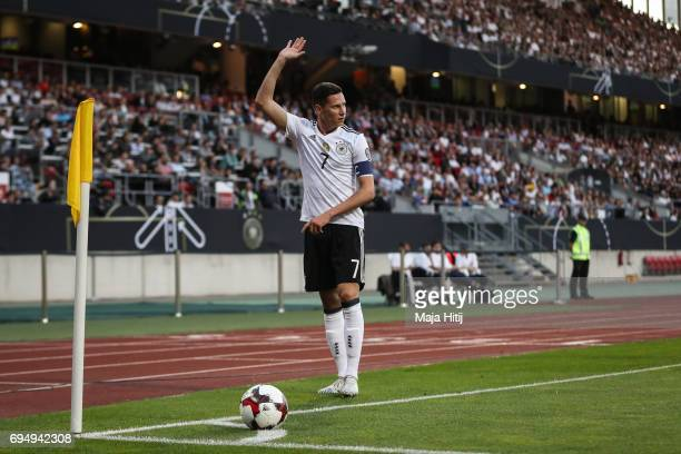 Julian Draxler of Germany reacts during the FIFA 2018 World Cup Qualifier between Germany and San Marino on June 10 2017 in Nuremberg Bavaria