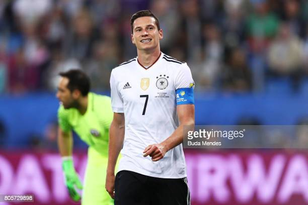 Julian Draxler of Germany reacts during the FIFA Confederations Cup Russia 2017 Final between Chile and Germany at Saint Petersburg Stadium on July 2...