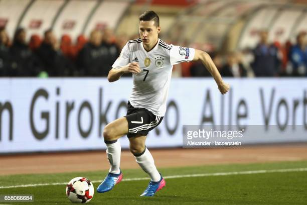 Julian Draxler of Germany runs with the ball during the FIFA 2018 World Cup Qualifing Group C between Azerbaijan and Germany at Tofiq Bahramov...