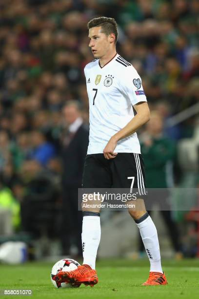 Julian Draxler of Germany runs with the ball during the FIFA 2018 World Cup Qualifier between Northern Ireland and Germany at Windsor Park on October...