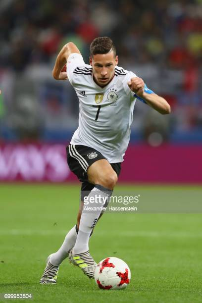 Julian Draxler of Germany runs with the ball during the FIFA Confederations Cup Russia 2017 Group B match between Germany and Chile at Kazan Arena on...