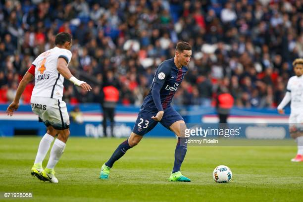 Julian Draxler of Paris Saint Germain during the French Ligue 1 match between Paris Saint Germain and Montpellier Herault at Parc des Princes on...