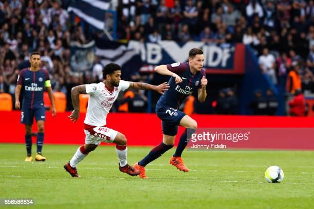 Julian Draxler of Paris Saint Germain during the Ligue 1 match between Paris Saint Germain and FC Girondins de Bordeaux at Parc des Princes on...