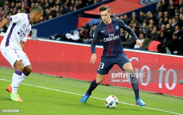 Julian Draxler of Paris SaintGermain during the French Ligue 1 match between Paris SaintGermain and Toulouse FC at Parc des Princes on February 19...