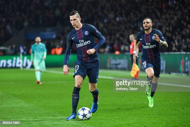 Julian Draxler of PSG during the Champions league match between Paris Saint Germain and FC Barcelona at Parc des Princes on February 14 2017 in Paris...