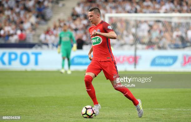 Julian Draxler of PSG during the French Cup final between Paris SaintGermain and SCO Angers at Stade de France on May 27 2017 in SaintDenis near...