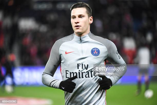 Julian Draxler of PSG during the French Ligue 1 match between Paris Saint Germain and Lyon at Parc des Princes on March 19 2017 in Paris France