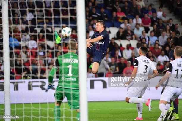 Julian Draxler of PSG during the French Ligue 1 match between Paris Saint Germain PSG and En Avant Guingamp at Parc des Princes on April 9 2017 in...
