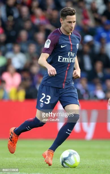 Julian Draxler of PSG during the French Ligue 1 match between Paris SaintGermain and FC Girondins de Bordeaux at Parc des Princes on September 30...
