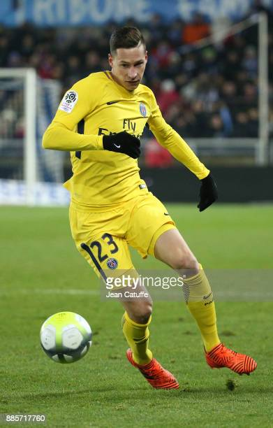 Julian Draxler of PSG during the French Ligue 1 match between RC Strasbourg Alsace and Paris Saint Germain at Stade de la Meinau on December 2 2017...