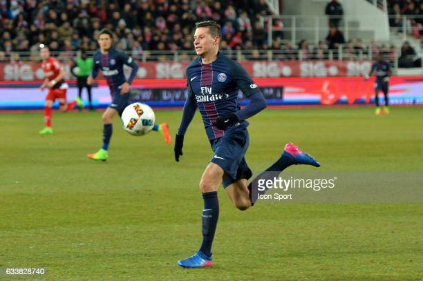 Julian Draxler of PSG during the Ligue 1 match between Dijon DCO and Paris Saint Germain at Stade Gaston Gerard on February 4 2017 in Dijon France