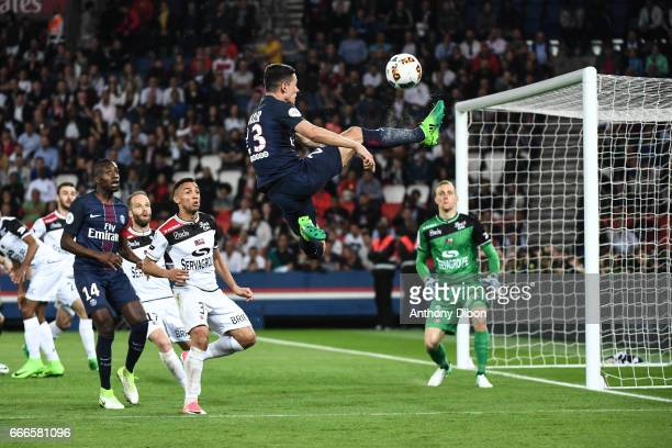 Julian Draxler of PSG during the Ligue 1 match between Paris Saint Germain and En Avant Guingamp at Parc des Princes on April 9 2017 in Paris France