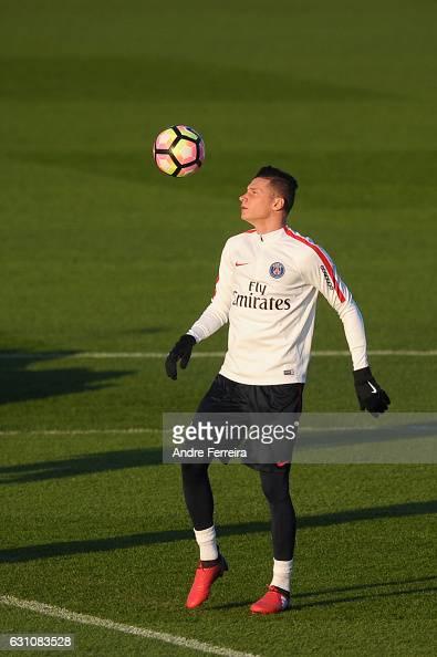 Julian Draxler of PSG during the Training Session of Paris Saint Germain at Camp des Loges on January 6 2017 in Saint Germain en Laye