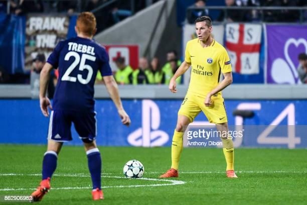Julian Draxler of PSG during the UEFA Champions League match between RSC Anderlecht and Paris SaintGermain at Constant Vanden Stock Stadium on...