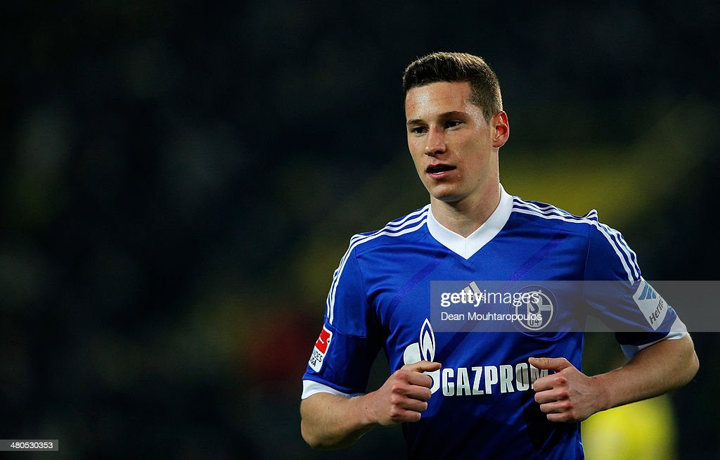 <a gi-track='captionPersonalityLinkClicked' href=/galleries/search?phrase=Julian+Draxler&family=editorial&specificpeople=7184479 ng-click='$event.stopPropagation()'>Julian Draxler</a> of Schalke 04 looks on during the Bundesliga match between Borussia Dortmund and FC Schalke at Signal Iduna Park on March 25, 2014 in Dortmund, Germany.