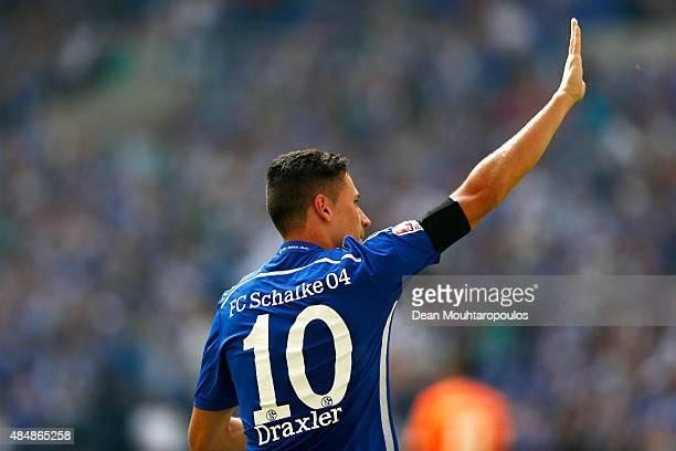 Julian Draxler of Schalke celebrates scoring his teams first goal of the game during the Bundesliga match between FC Schalke 04 and SV Darmstadt 98...