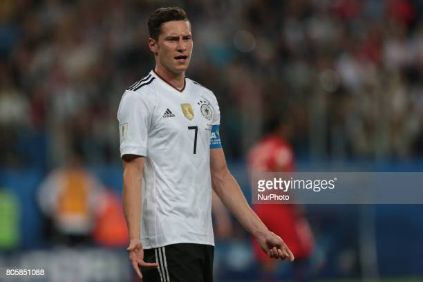 Julian Draxler of the Germany national football team reacts during the 2017 FIFA Confederations Cup final match between Chile and Germany at Saint...