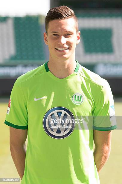 Julian Draxler poses during the official team presentation of VfL Wolfsburg at Volkswagen Arena on September 14 2016 in Wolfsburg Germany