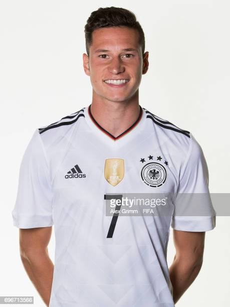 Julian Draxler poses for a picture during the Germany team portrait session on June 16 2017 in Sochi Russia