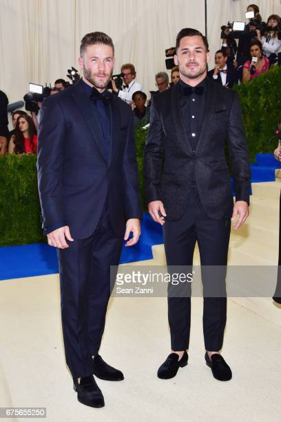 Julian Edelman and Danny Amendola arrives at 'Rei Kawakubo/Comme des Garcons Art Of The InBetween' Costume Institute Gala at The Metropolitan Museum...
