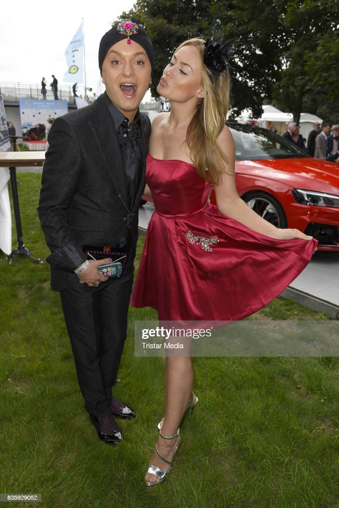 Julian F. M. Stoeckel and Anne Julia Hagen during the Audi Ascot Race Day (Renntag) 2017 on August 20, 2017 in Hanover, Germany.