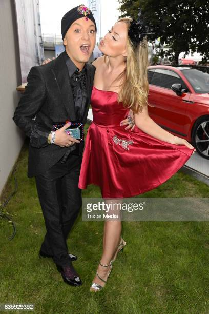 Julian F M Stoeckel and Anne Julia Hagen during the Audi Ascot Race Day 2017 on August 20 2017 in Hanover Germany