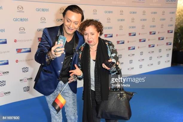 Julian F M Stoeckel and Franziska Traub during the Alcatel Entertainment Night feat Music Meets Media at Sheraton Berlin Grand Hotel Esplanade on...