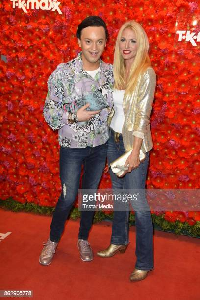 Julian F M Stoeckel and Sonya Kraus attend the TK Maxx 10th anniversary celebration on October 18 2017 in Berlin Germany