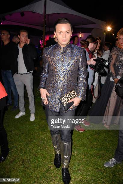 Julian F M Stoeckel attends the Fashion Week Berlin Opening Night With Dandy Diary And Harald Gloeoeckler at Insel der Jugend on July 3 2017 in...