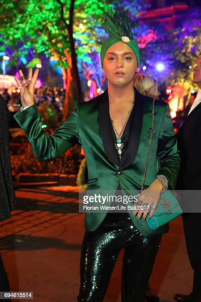 Julian F M Stoeckel attends the Life Ball 2017 after show party at Volksgarten on June 10 2017 in Vienna Austria