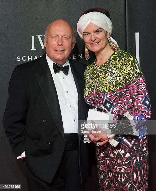 Julian Fellowes and Emma Joy Kitchener attend the BFI Luminous Funraising Gala at The Guildhall on October 6 2015 in London England
