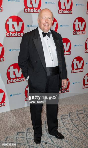 Julian Fellowes arrives for the TV Choice Awards at The Dorchester Hotel on September 5 2016 in London England
